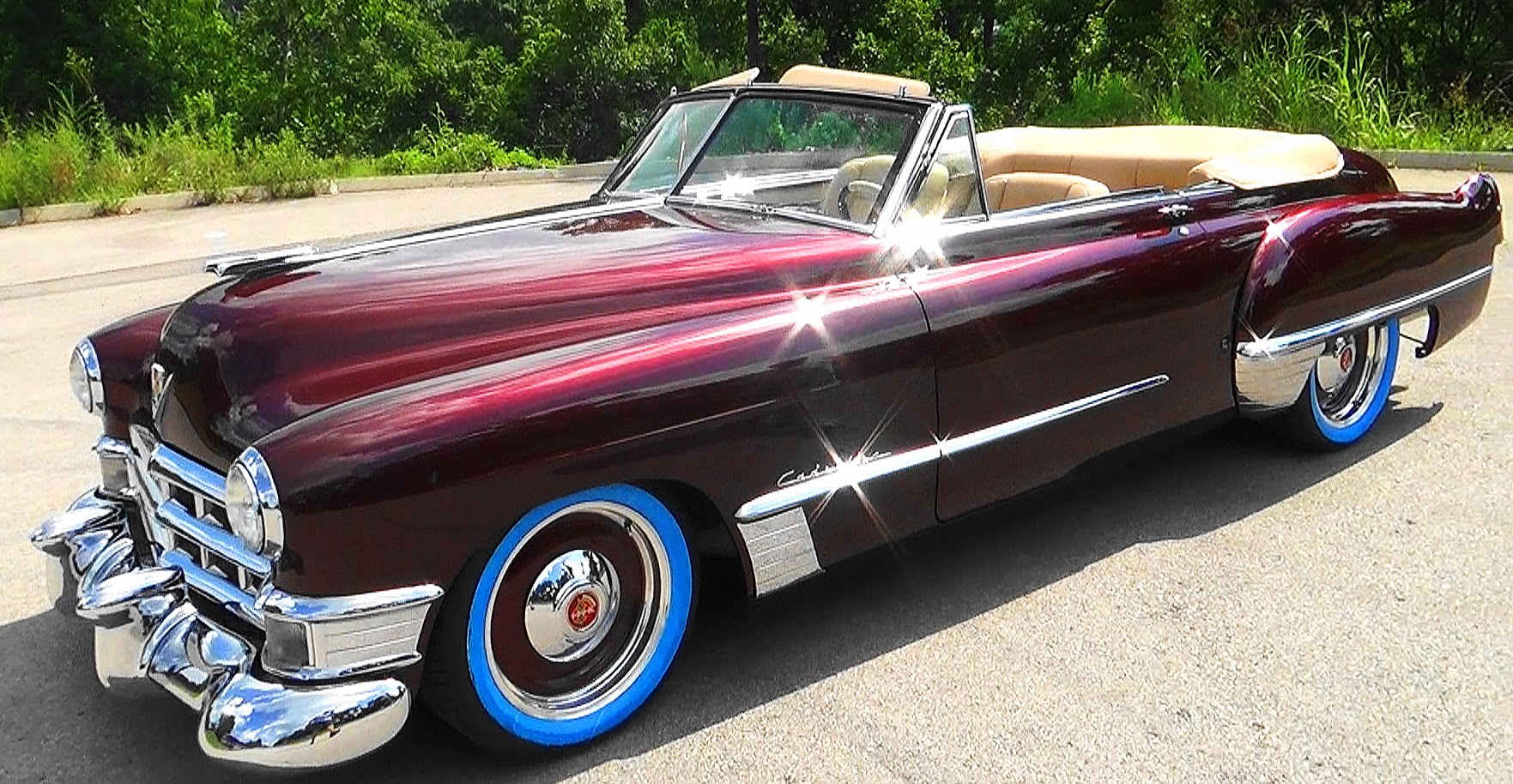 49 cadillac convertible street rod scottiedtv coolest cars on the web. Black Bedroom Furniture Sets. Home Design Ideas