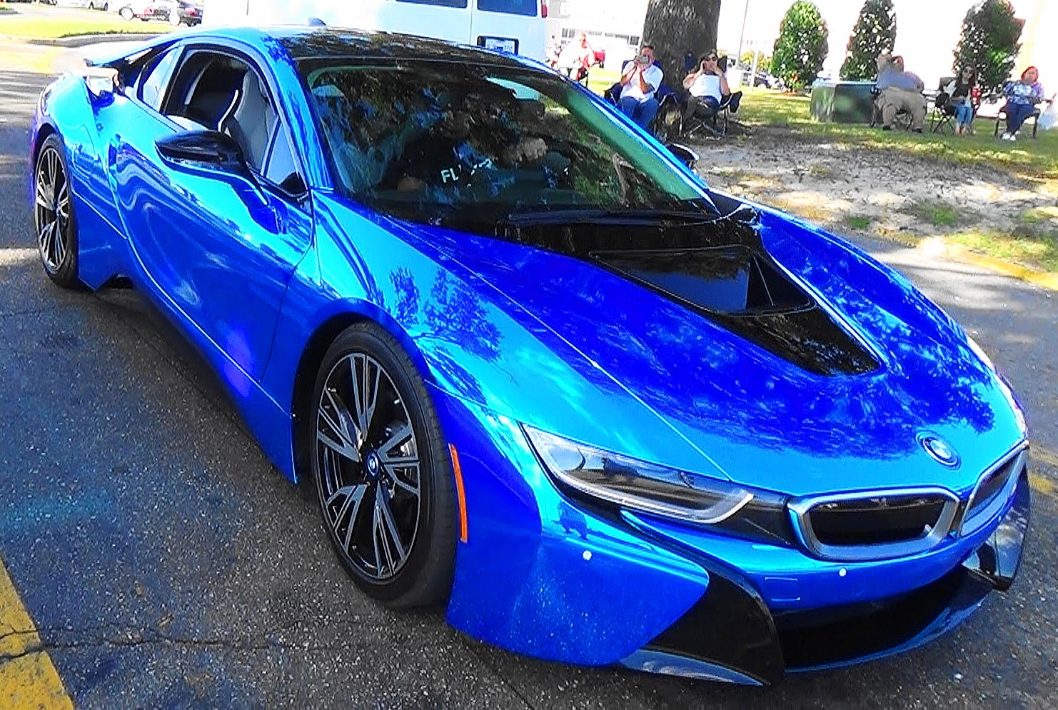 "Chrome Car Wrap >> 2015 BMW I8 ""Blue Chrome"" Cruisin' The Coast 2015 - ScottieDTV - Coolest Cars On The Web"