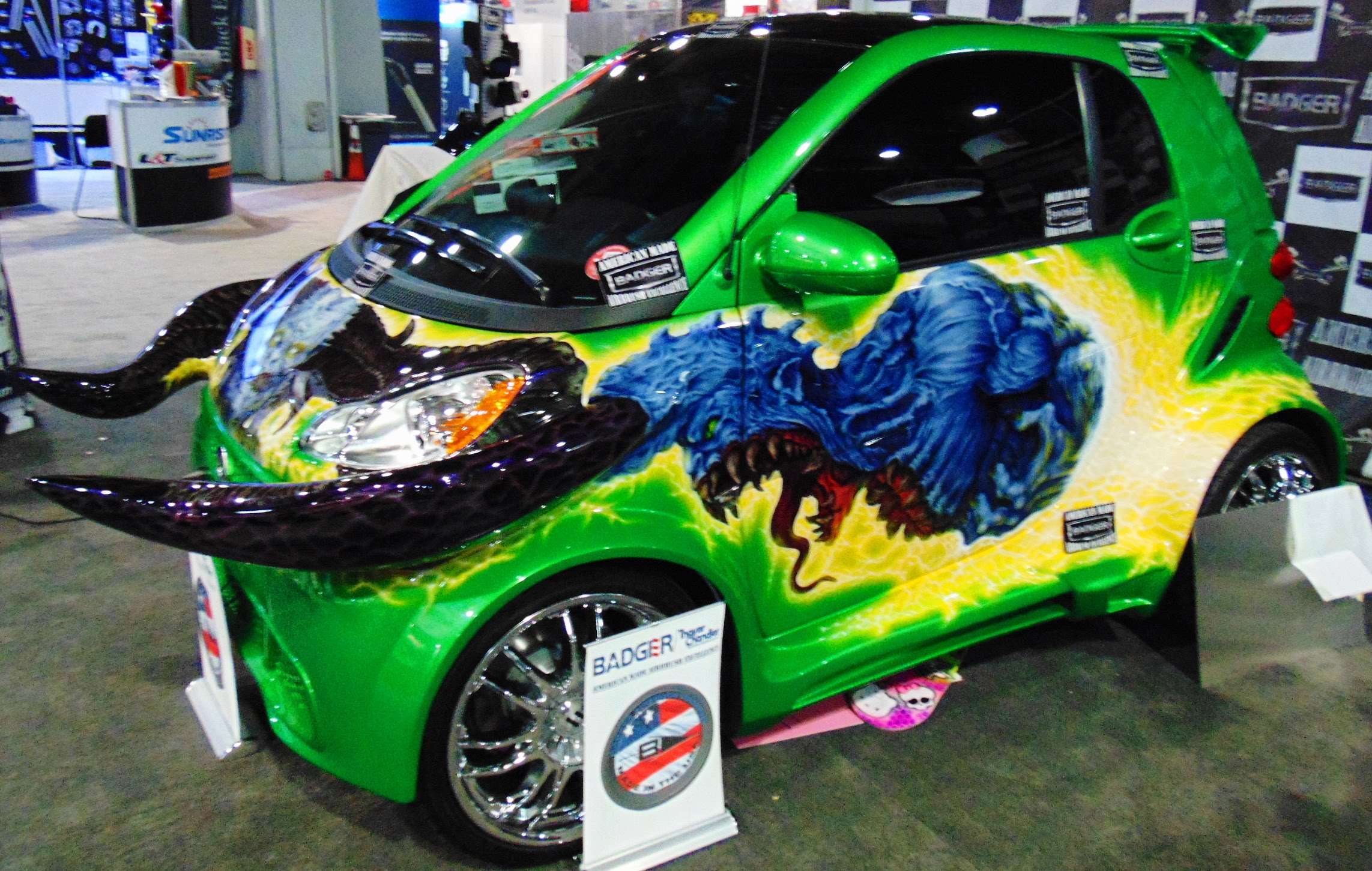 "Cars For Sale In Las Vegas >> Horny Mike ""Horned smart Car"" SEMA 2015 - ScottieDTV - Coolest Cars On The Web"