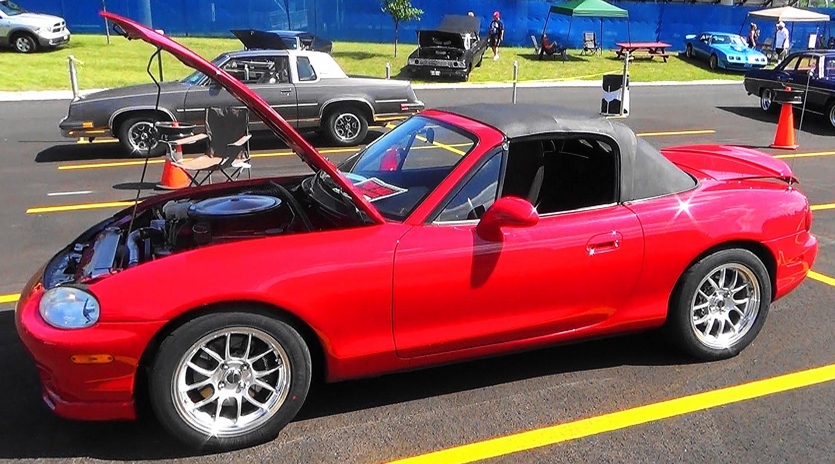 1999 Mazda Miata Ford V8 2015 Car Craft Summer Nationals - ScottieDTV - Coolest Cars On The Web