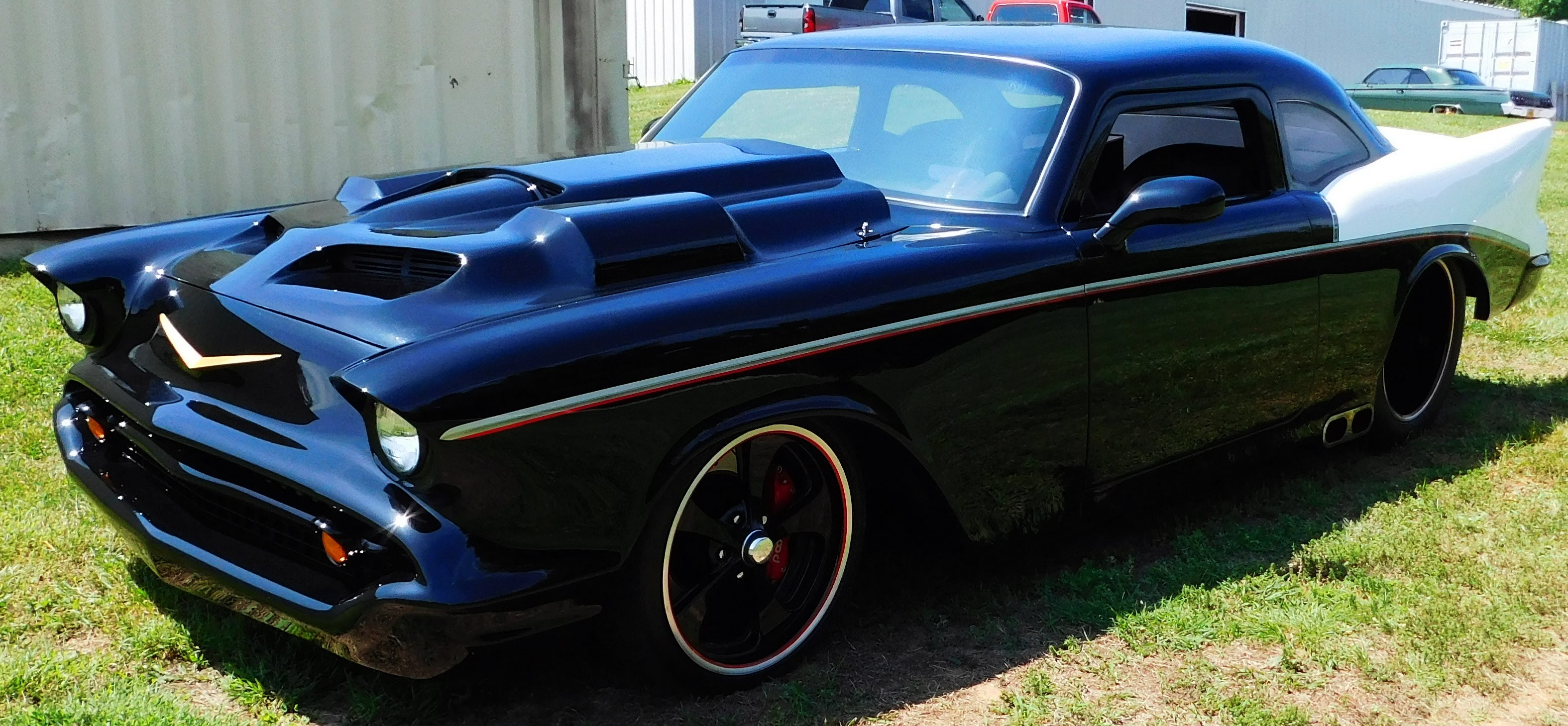 Fiberglass 1957 Chevrolet Pro Street Custom Scottiedtv