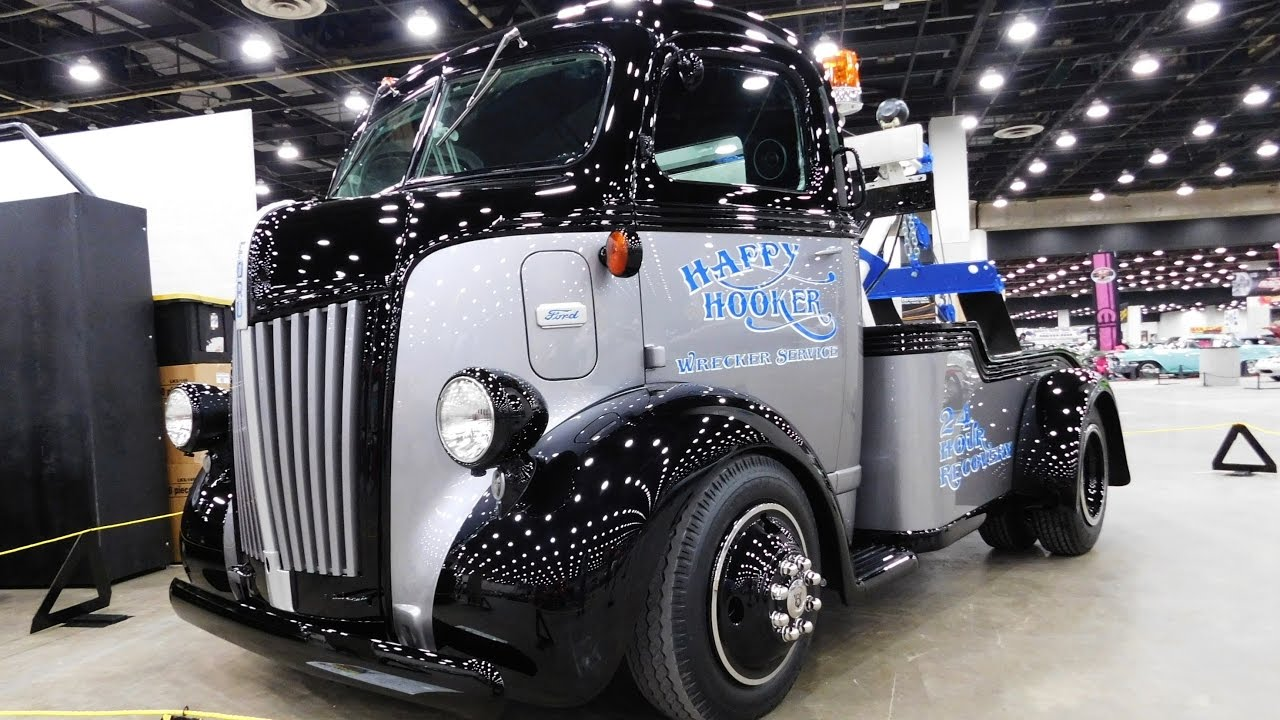 """1947 Ford COE Tow Truck """"Happy Hooker"""" 2017 Detroit ..."""