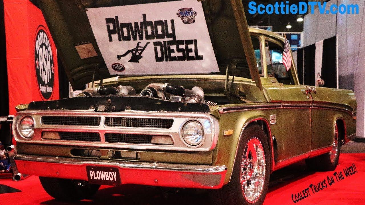 1970 Dodge Sweptline Pickup Dual Cummins Diesel Engine