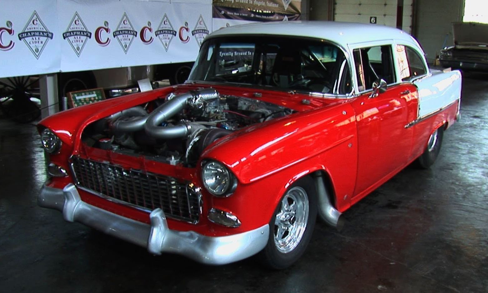 1955 Chevrolet Bel Air Twin Turbo 1100 Hp Street Car Scottiedtv Coolest Cars On The Web