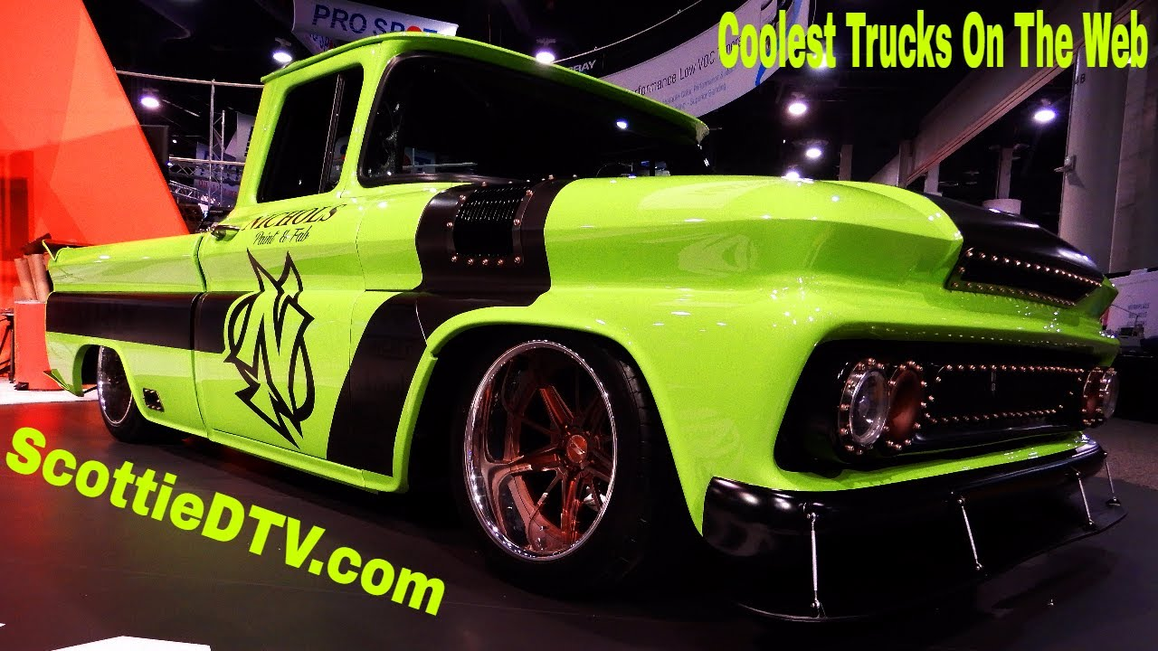 "Build A Truck >> 1960 Chevrolet C/10 ""Street Slime"" Nichols Paint and Fab The SEMA Show 2017 - ScottieDTV ..."