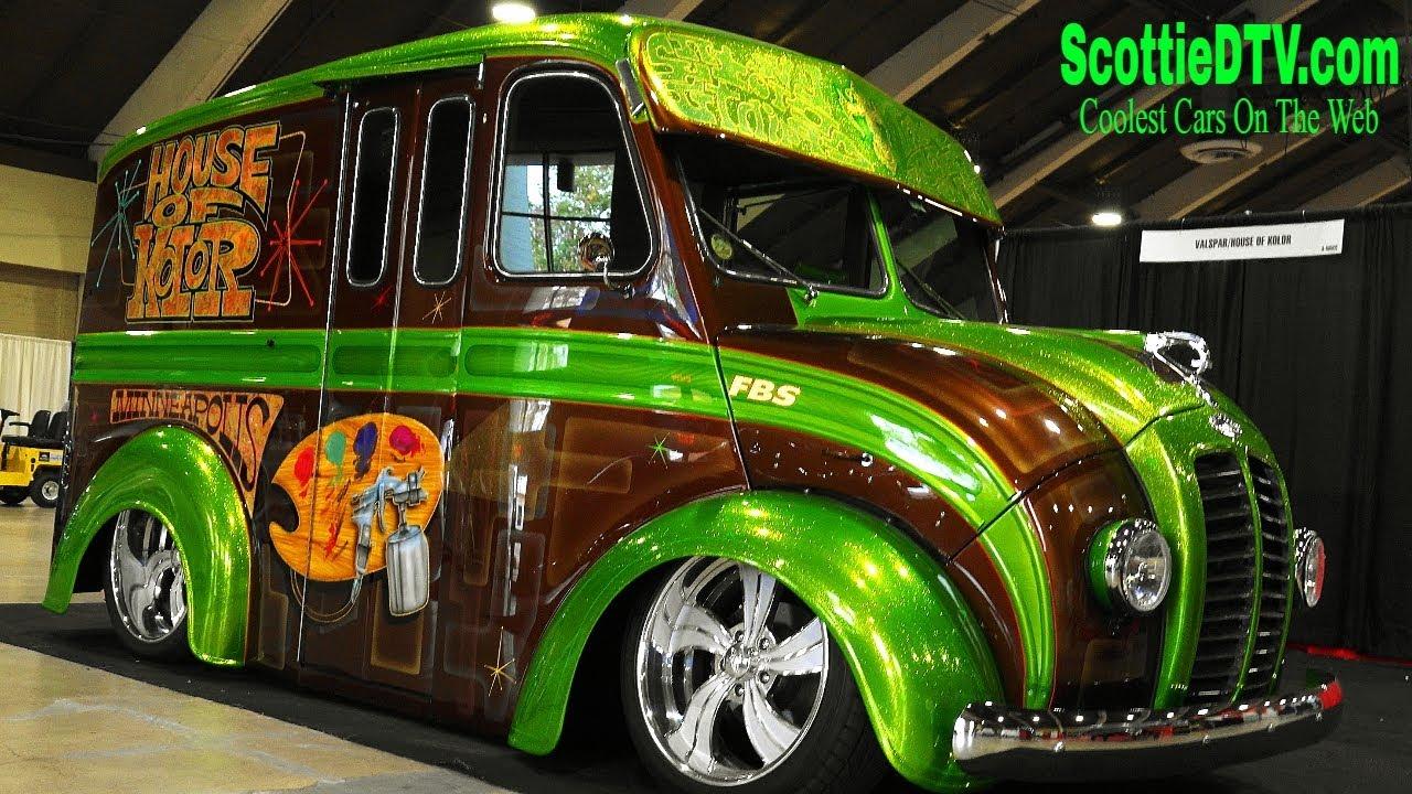 Build A Truck >> 1954 Divco Custom Milk Truck House Of Kolor Grand National Roadster Show 2018 - ScottieDTV ...