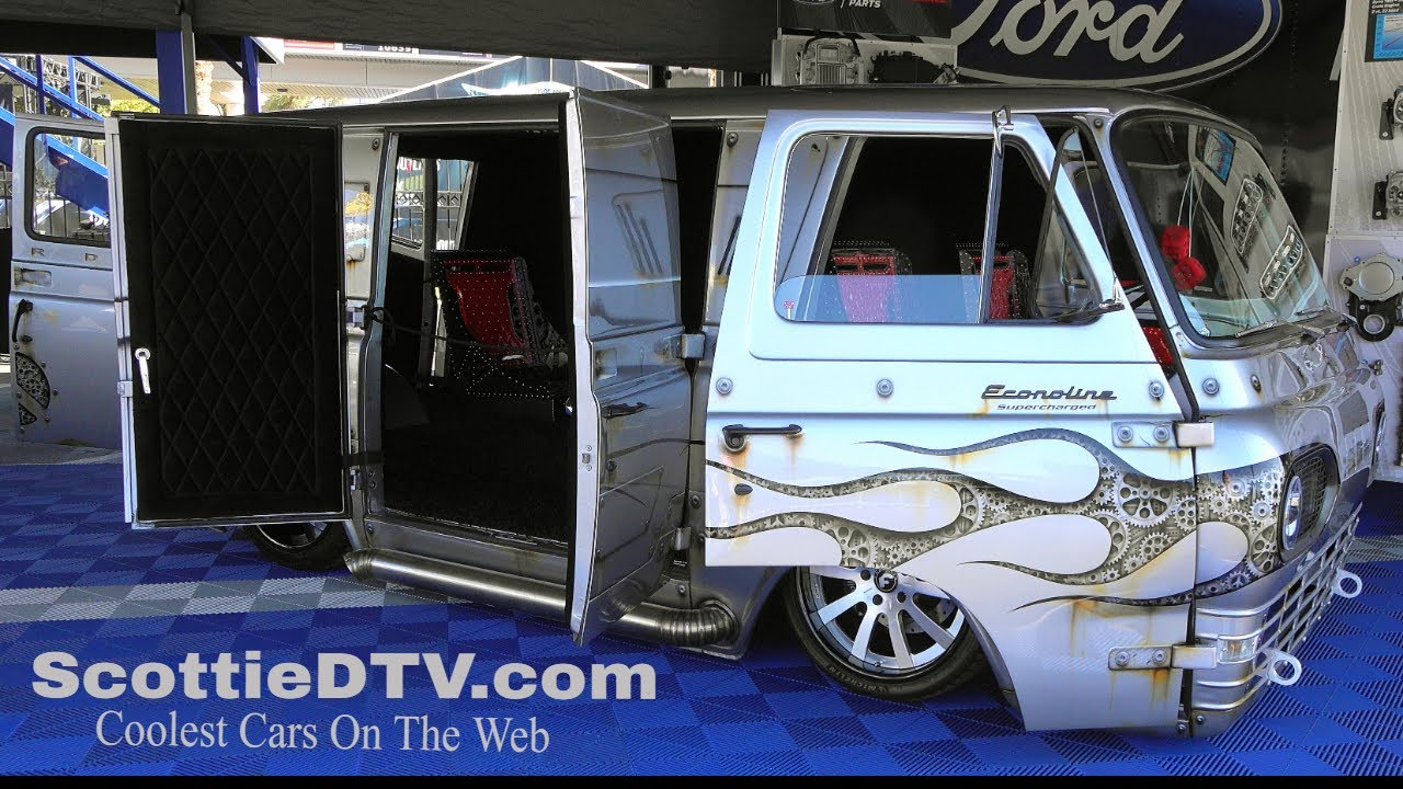 custom ford econoline van 2019 sema show - scottiedtv